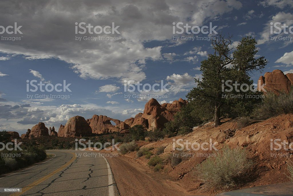 Arches Thunderstorms royalty-free stock photo