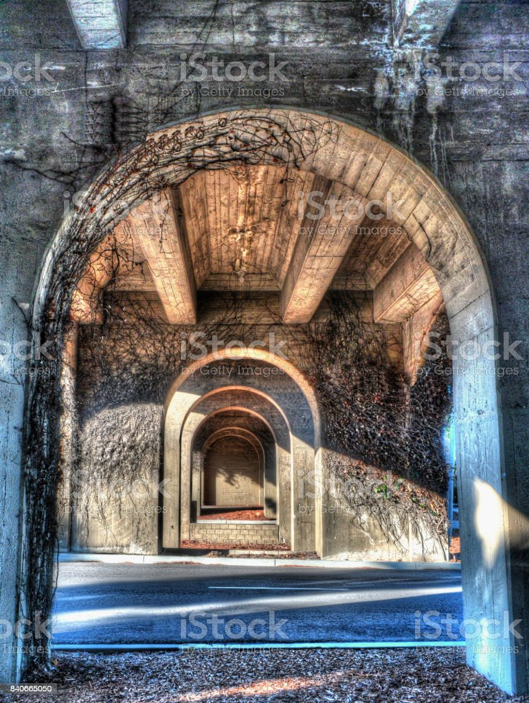 Arches Under the Bridge stock photo
