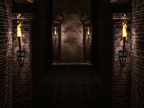Arches with torches background