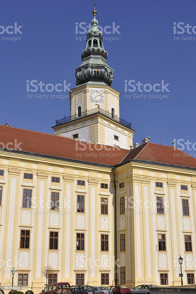 Archiepiscopal castle,Kromeriz world heritage site,Czech royalty-free stock photo