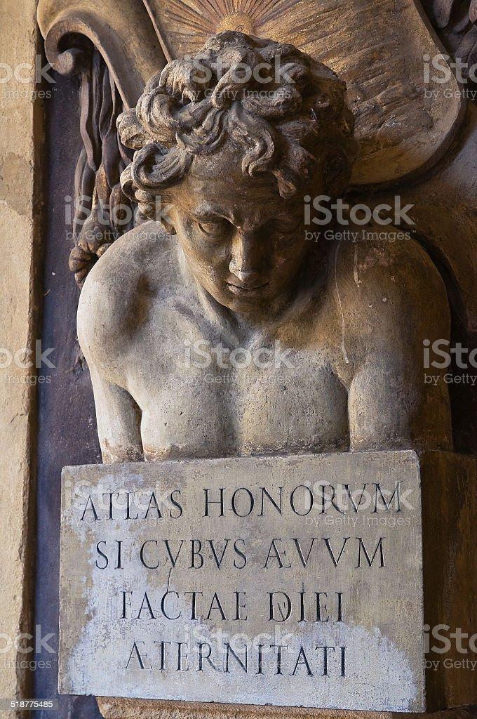 Archiginnasio of Bologna. Emilia-Romagna. Italy. stock photo