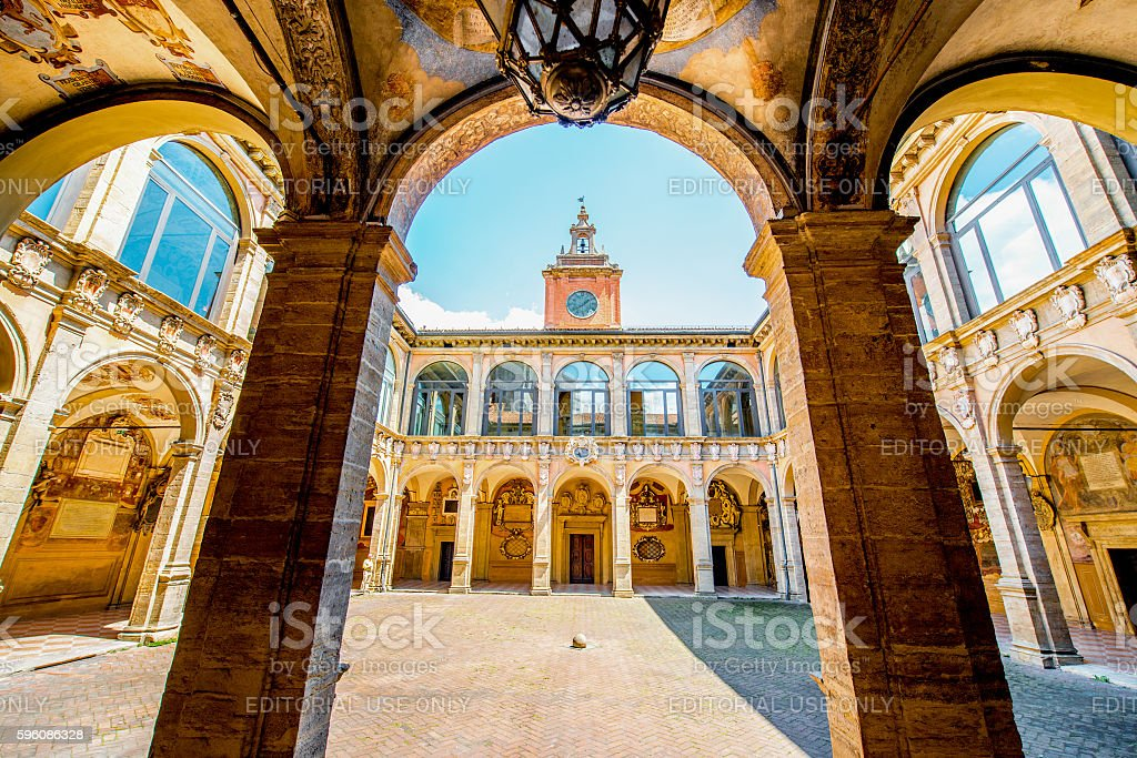 Archiginnasio of Bologna - foto de stock