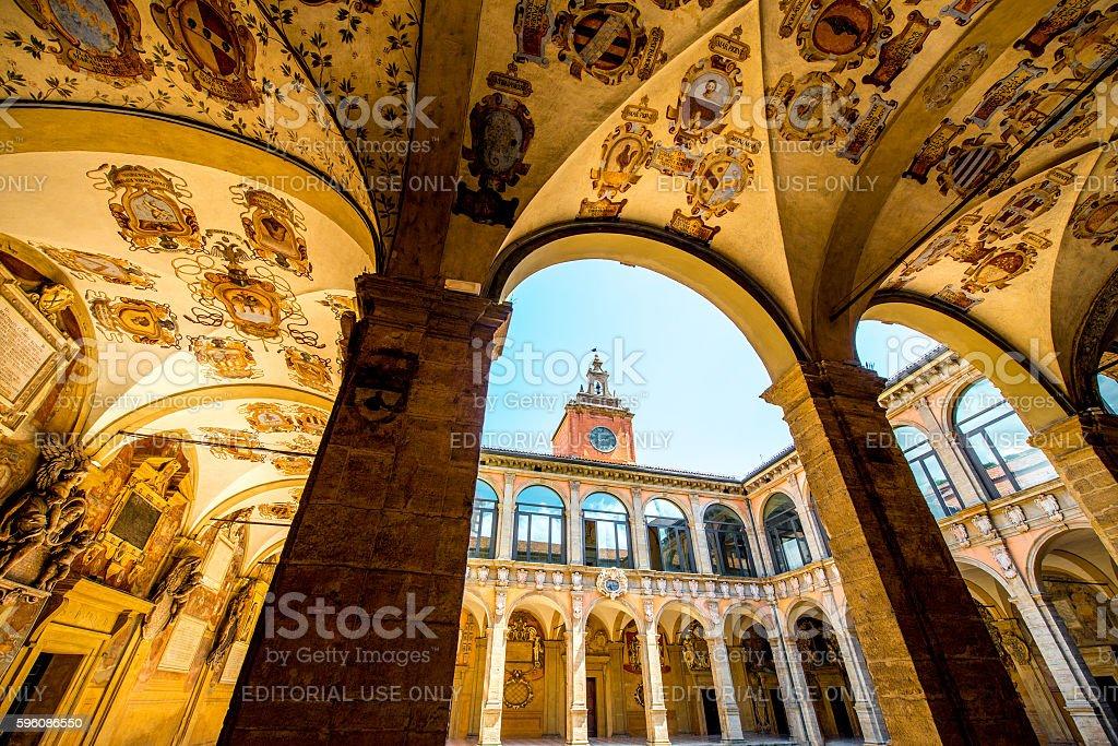 Archiginnasio of Bologna Lizenzfreies stock-foto