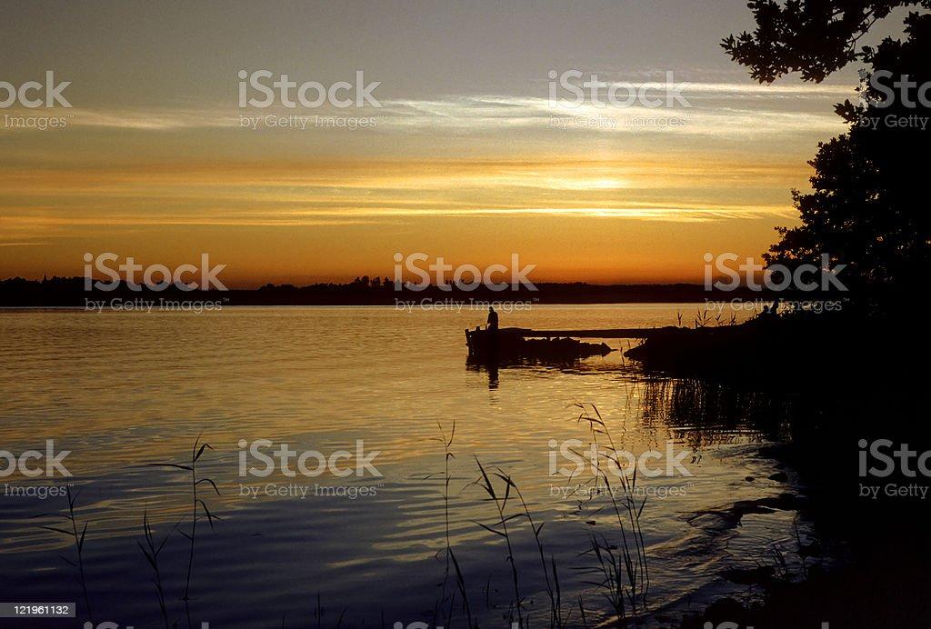 Archipelago sunset royalty-free stock photo