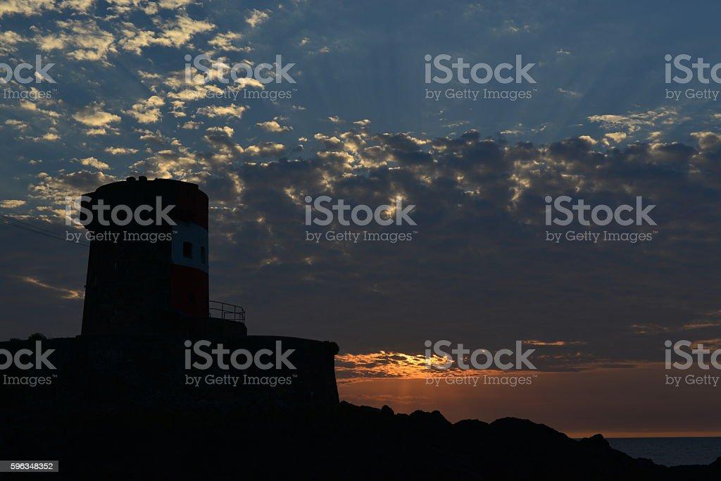 Archirondel tower, Jersey, U.K. royalty-free stock photo