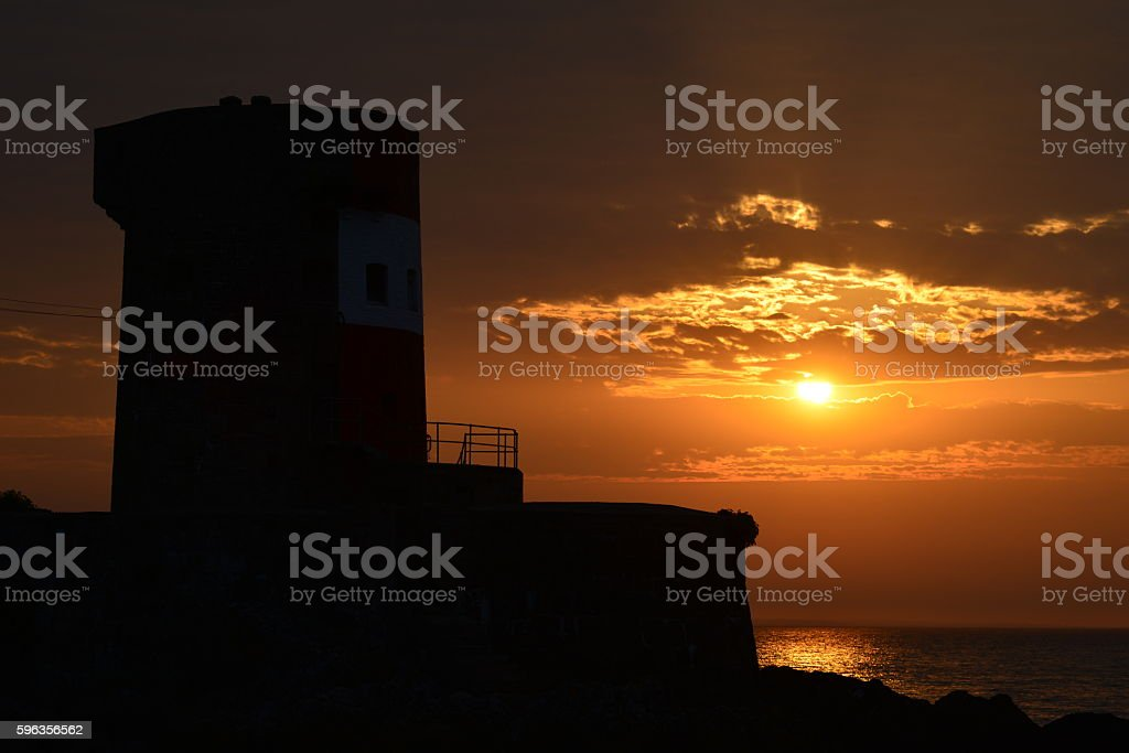 Archirondel tower, Jersey, U.K. royalty-free stock photo