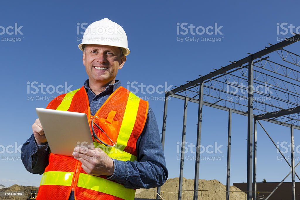 Architect and Computer royalty-free stock photo
