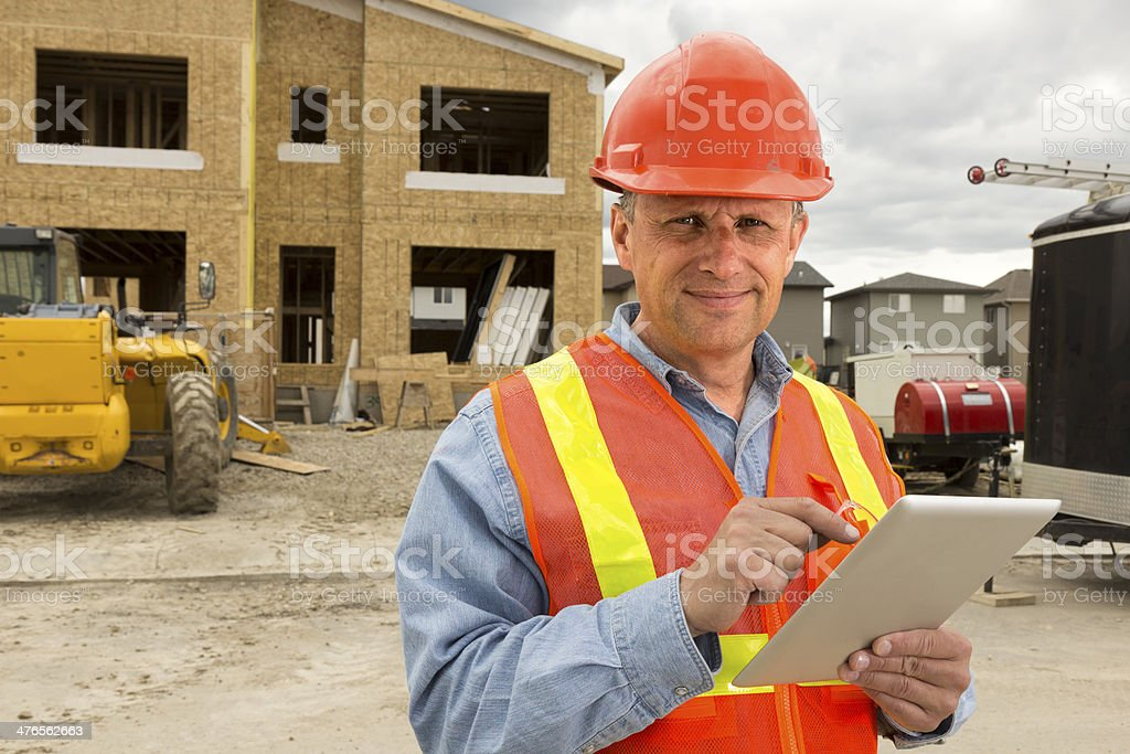 Architect and Computer stock photo