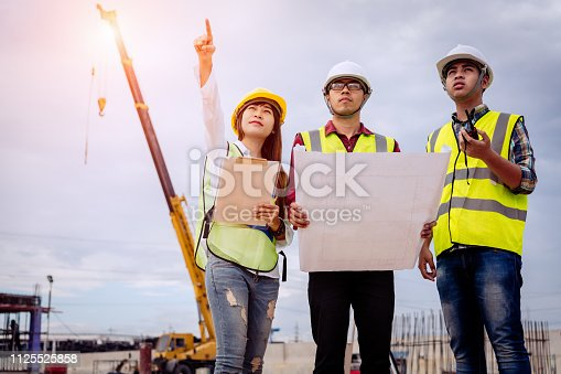 1166176793 istock photo Architect and engineer meeting planning. 1125525858