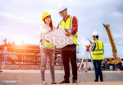 1166176793 istock photo Architect and engineer meeting planning. 1125526067