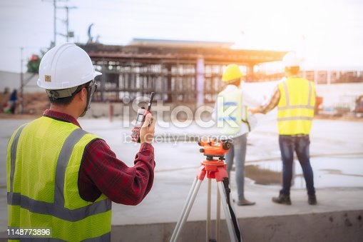 1166176793 istock photo Architect and engineer meeting planning. 1148773896
