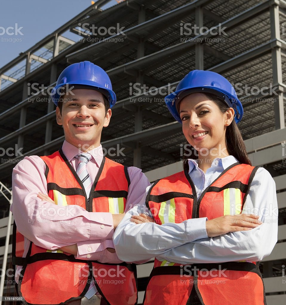 Architect and Foreman royalty-free stock photo