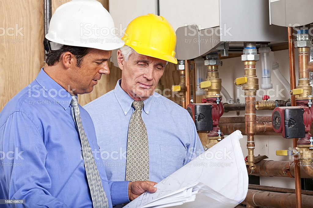 Architect and GC stock photo