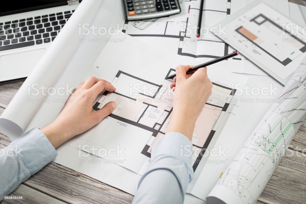 Architect architecture drawing project blueprint working design architect architecture drawing project blueprint working design designer royalty free stock photo malvernweather Image collections