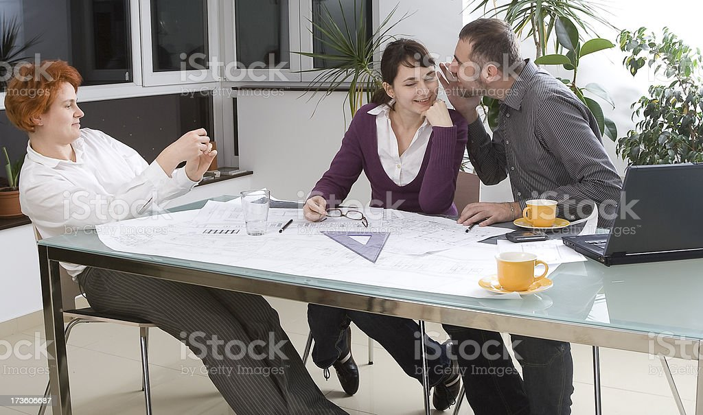 Architect - clients meeting royalty-free stock photo