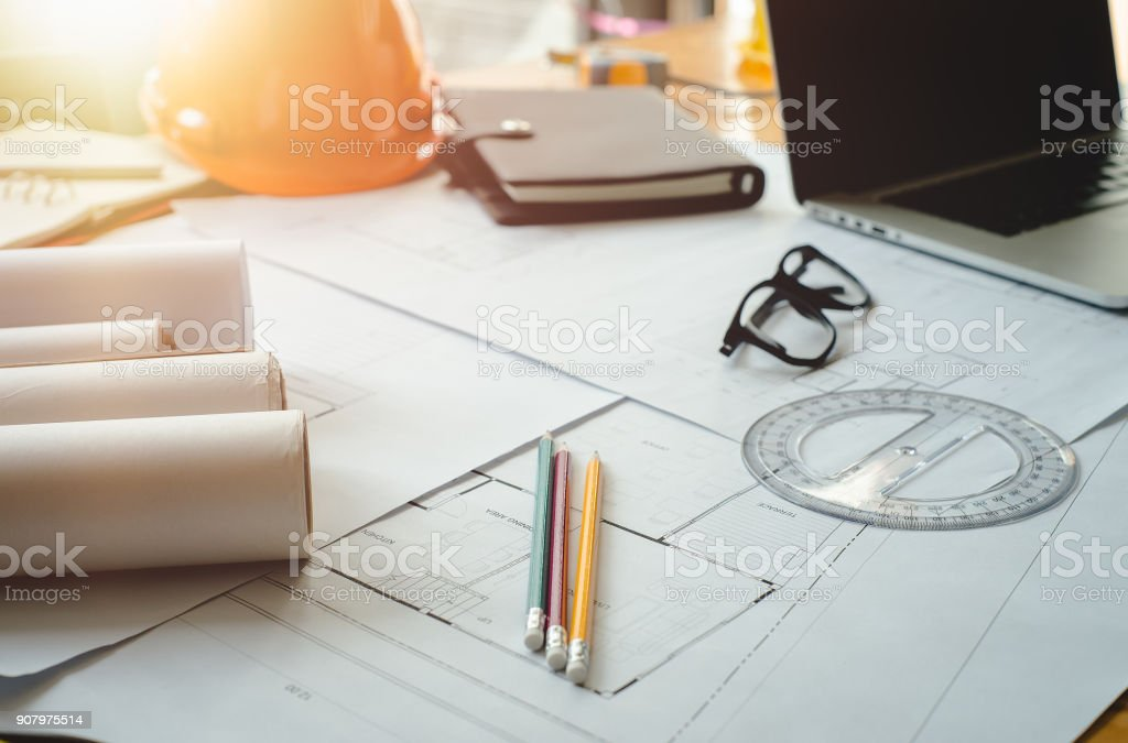 Architect concept. stock photo