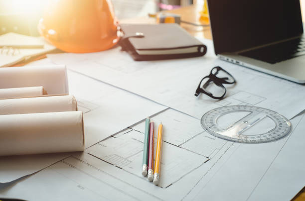 architect concept. - civil engineer stock photos and pictures