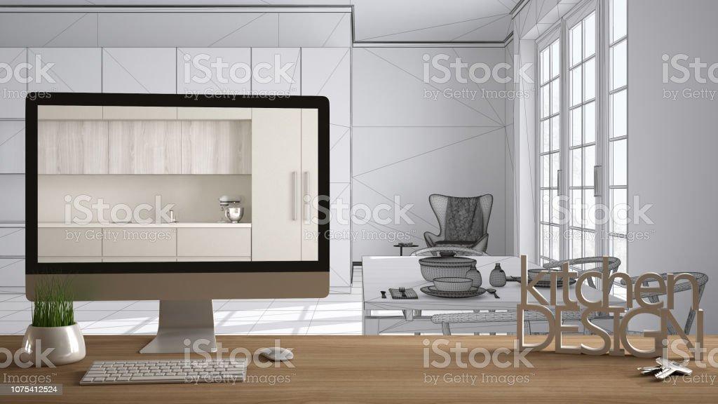 Arquitecto Diseñador Proyecto Concepto Mesa De Madera Diseño ...