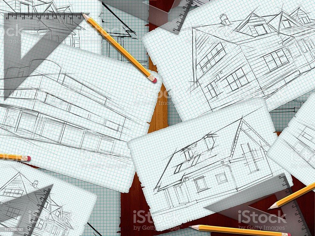 Architekt biurko tle – zdjęcie
