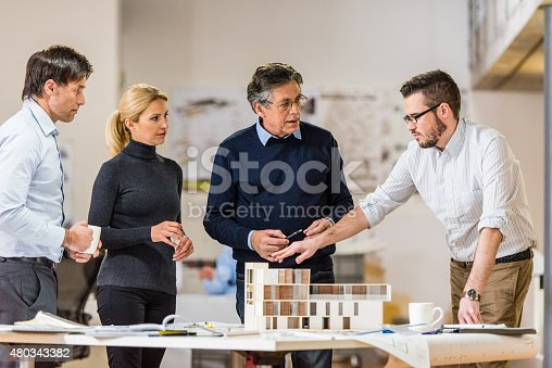 istock Architect explaining project plan to client 480343382
