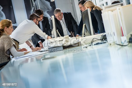 532257236istockphoto Architect explaining project plan to clients 481991872