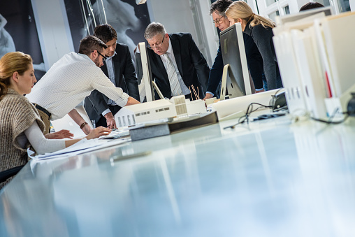 532257236 istock photo Architect explaining project plan to clients 481991872