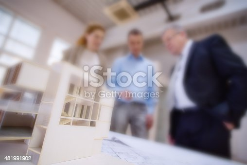 532257236istockphoto Architect explaining project plan to clients 481991902