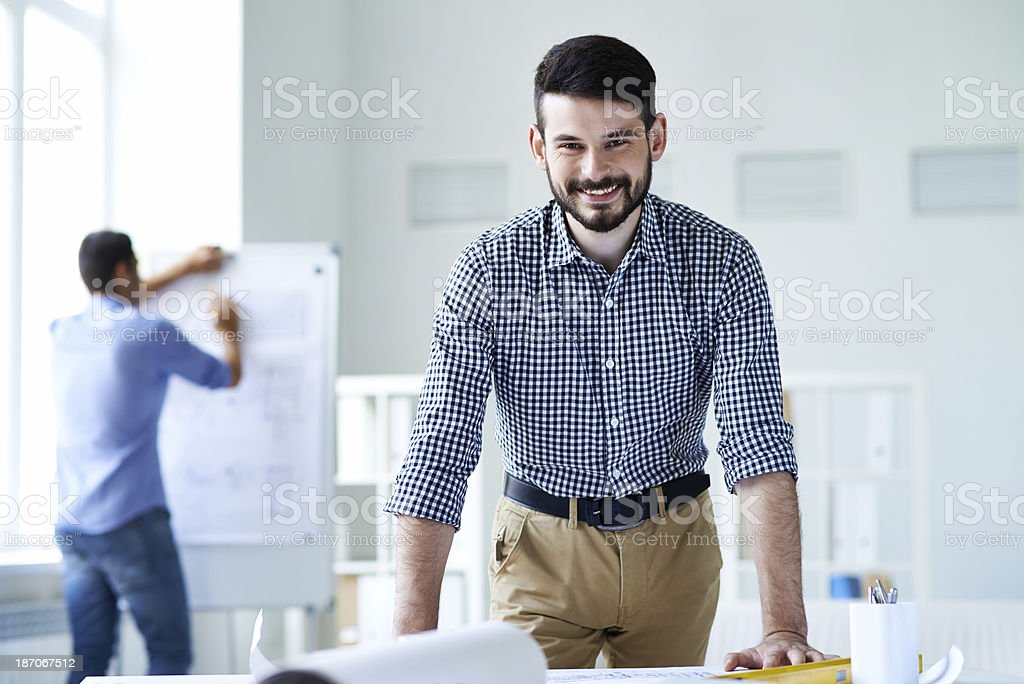 Architect in good mood royalty-free stock photo