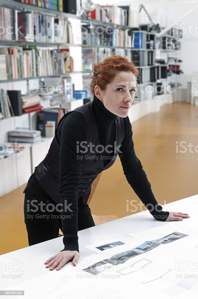 Architect in her job royalty-free stock photo