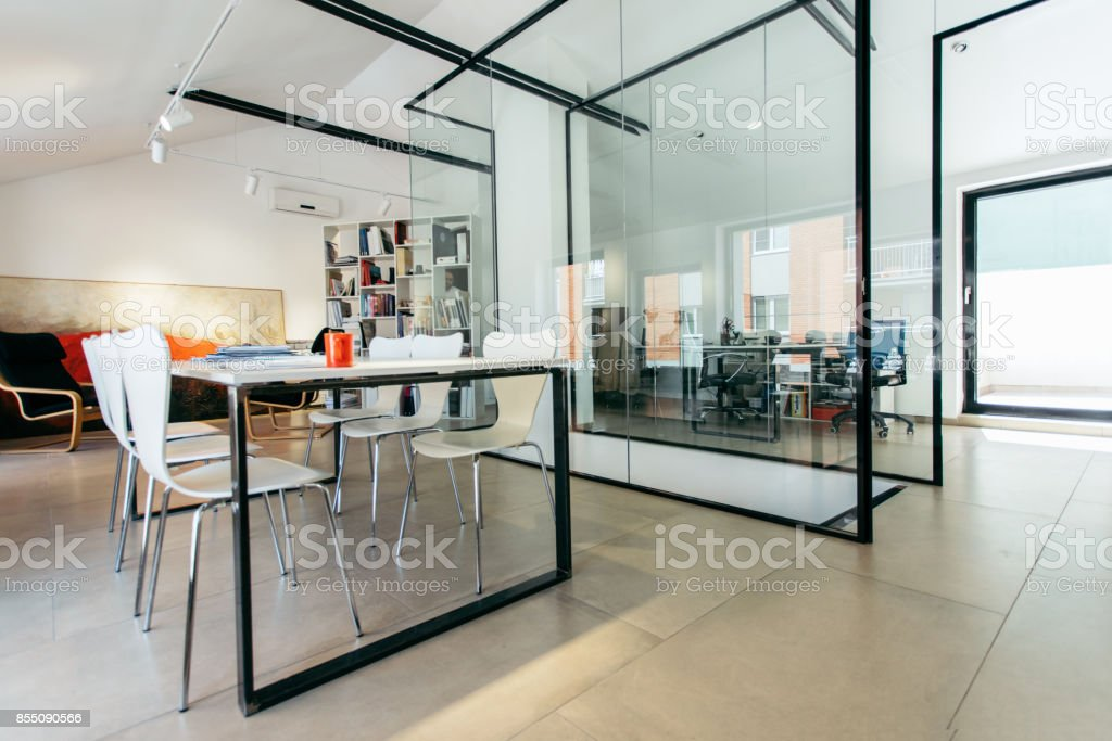 Architect in his office stock photo