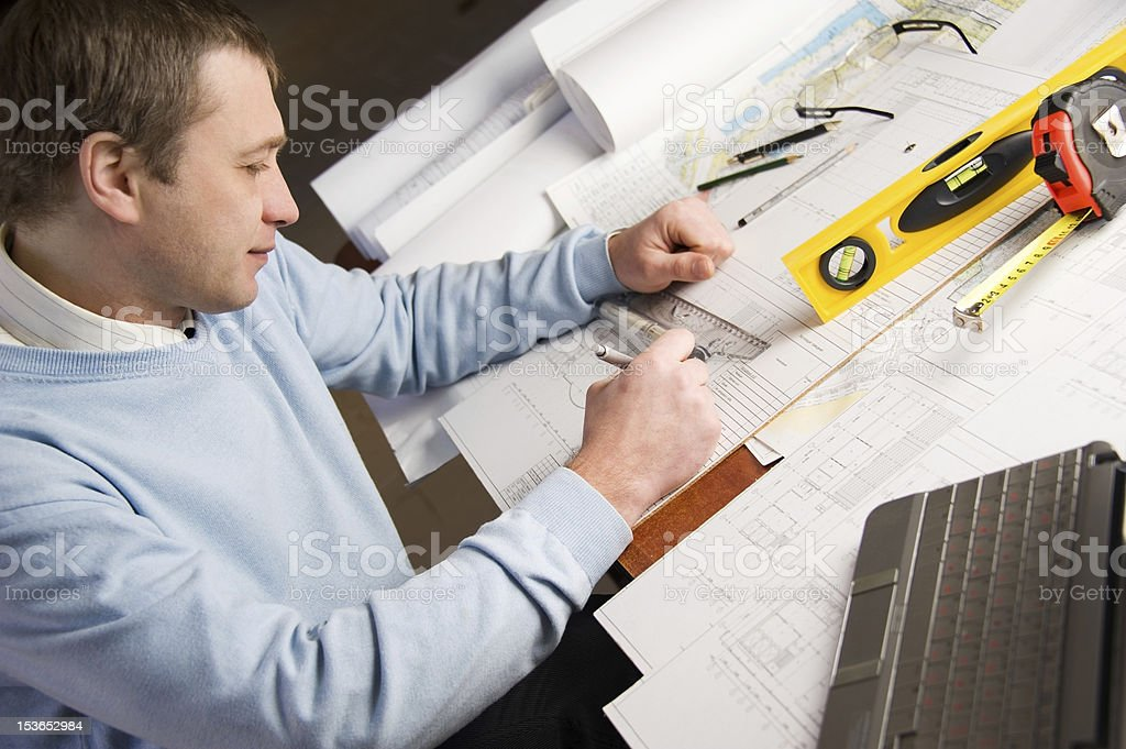Architect in work. royalty-free stock photo