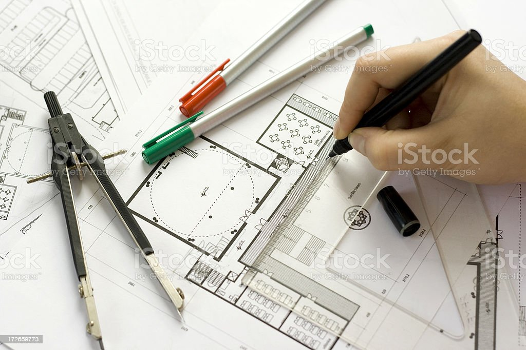 Architect in work royalty-free stock photo