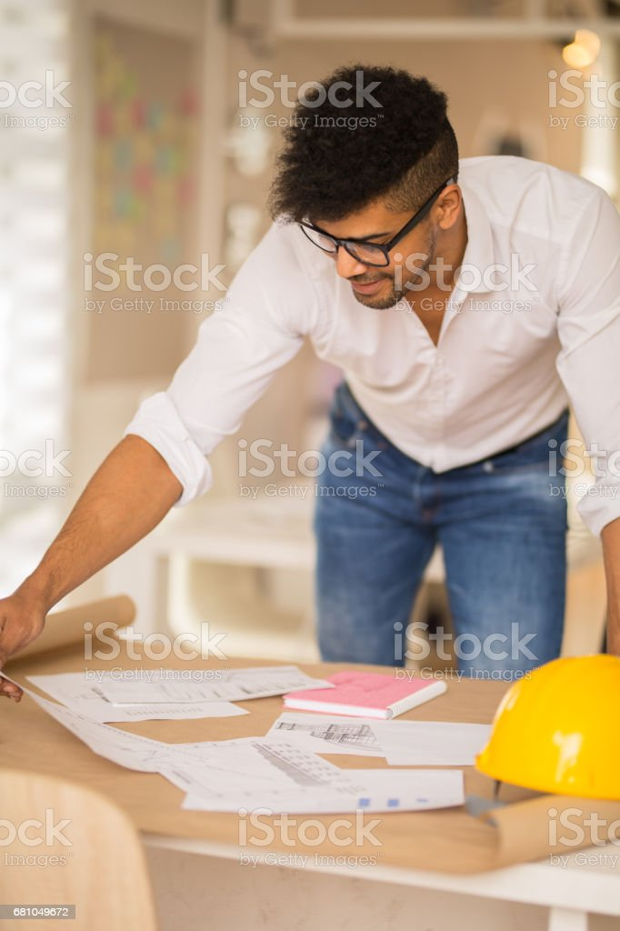 Architect man. royalty-free stock photo