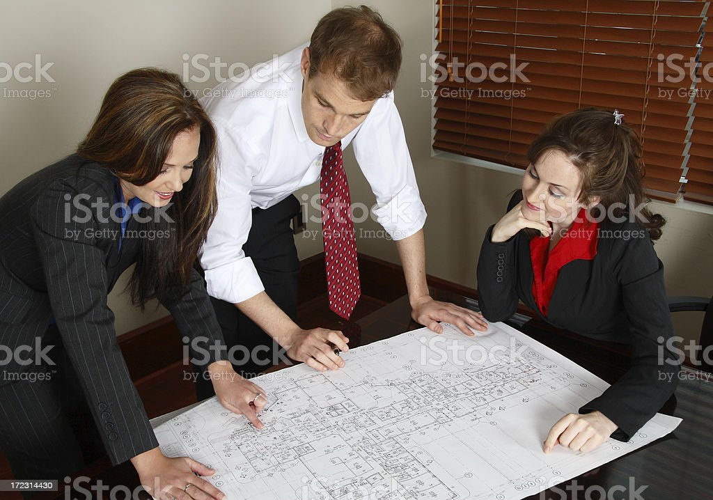 Architect Meeting With Clients royalty-free stock photo