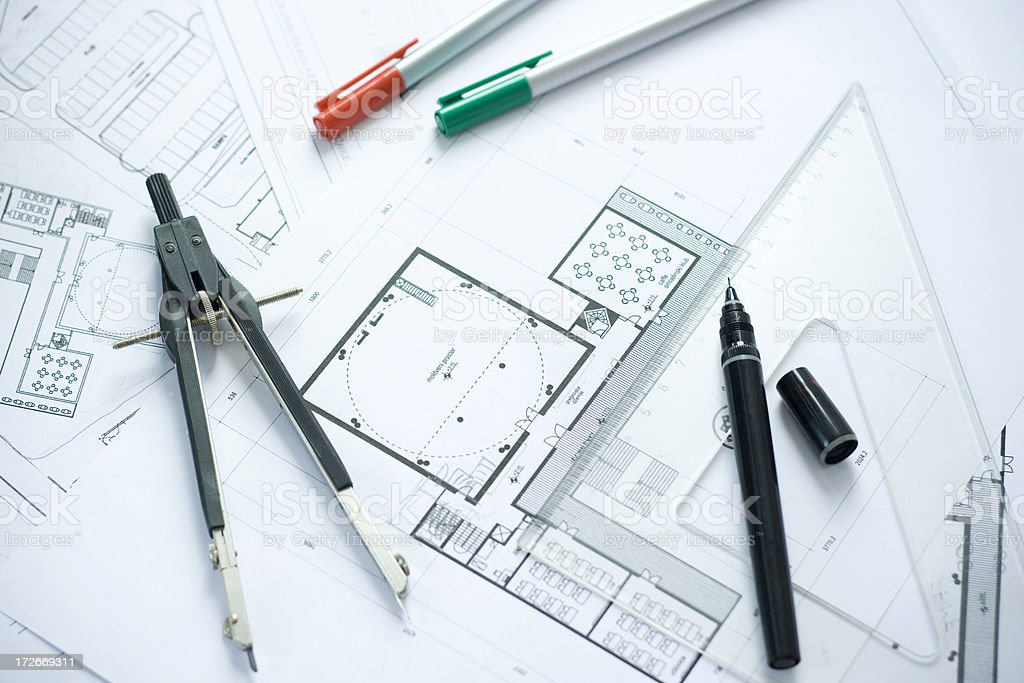 Architect office royalty-free stock photo