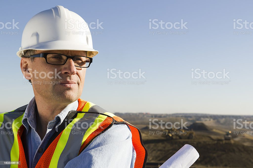 Architect on Site royalty-free stock photo