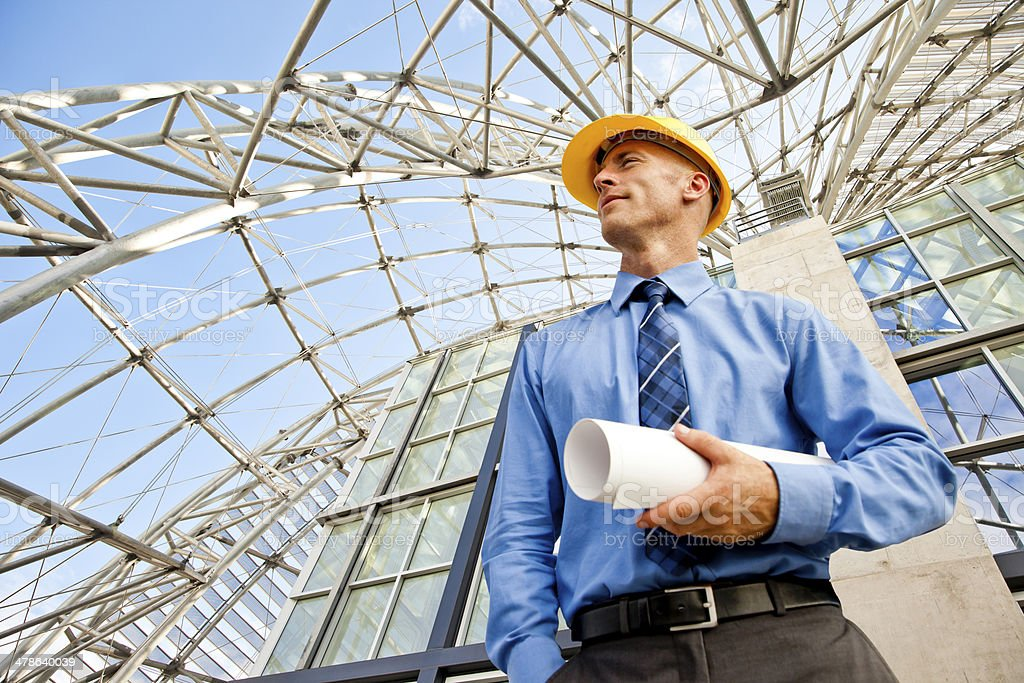 Architect or Engineer stock photo