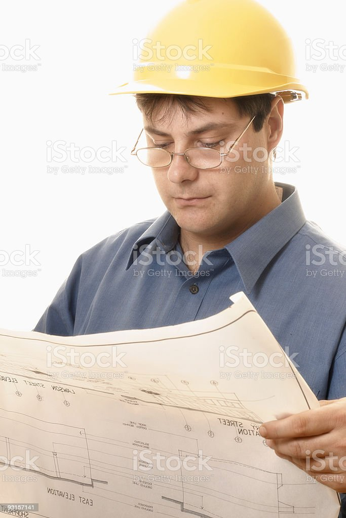 Architect or Project Manager royalty-free stock photo