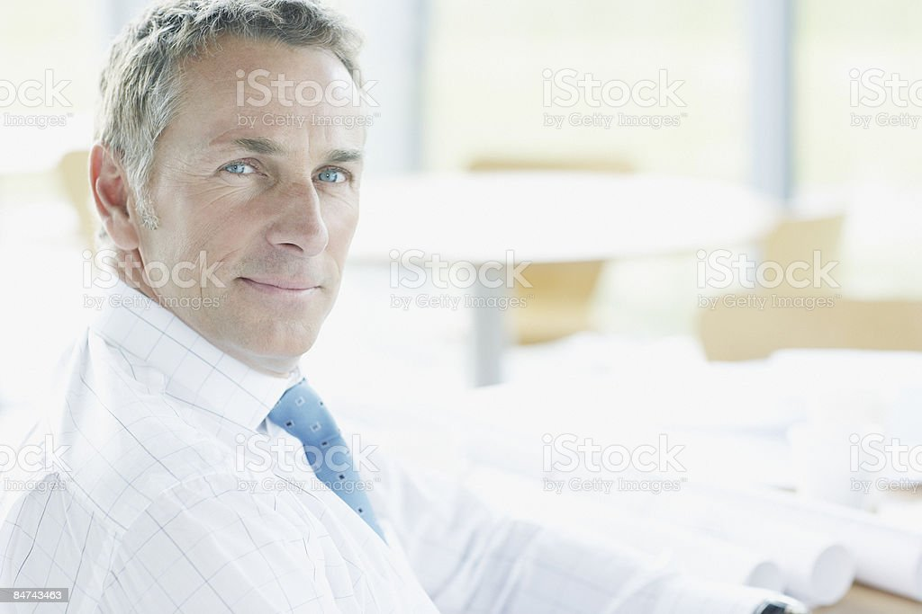 Architect posing in office royalty-free stock photo