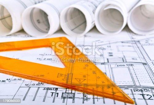 istock architect project blueprints 179086533