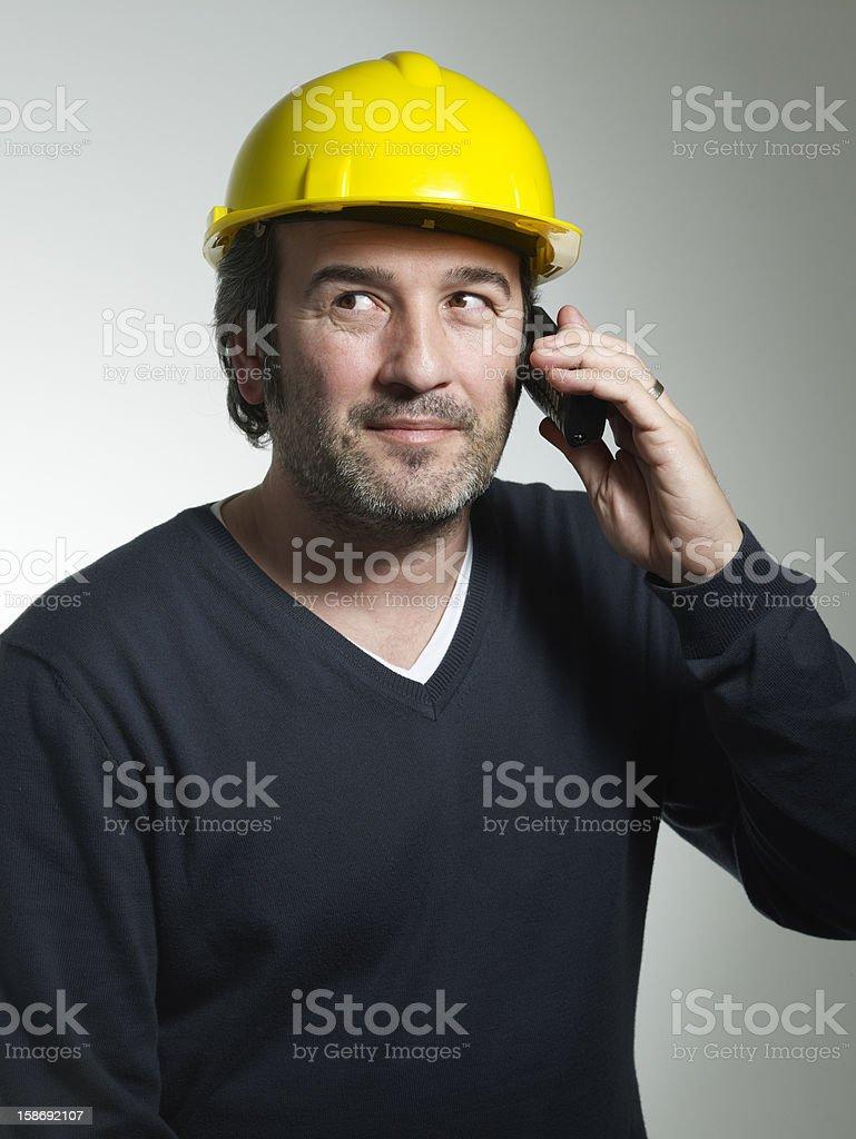 Architect talking on the phone royalty-free stock photo