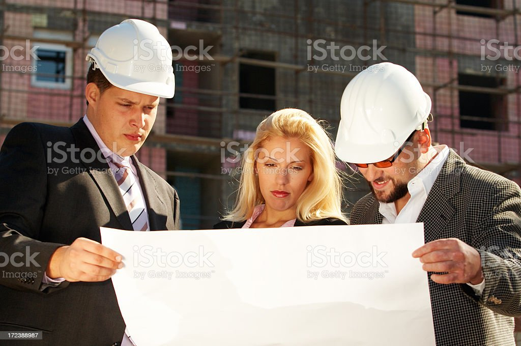 Architect team at site royalty-free stock photo