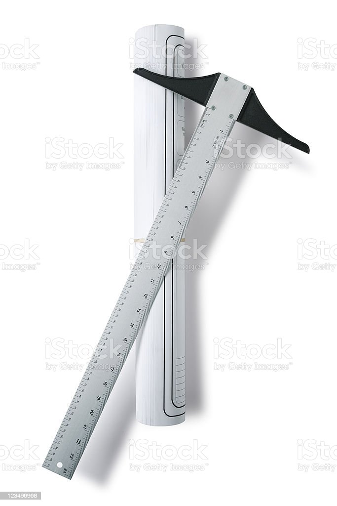 Architect tools stock photo