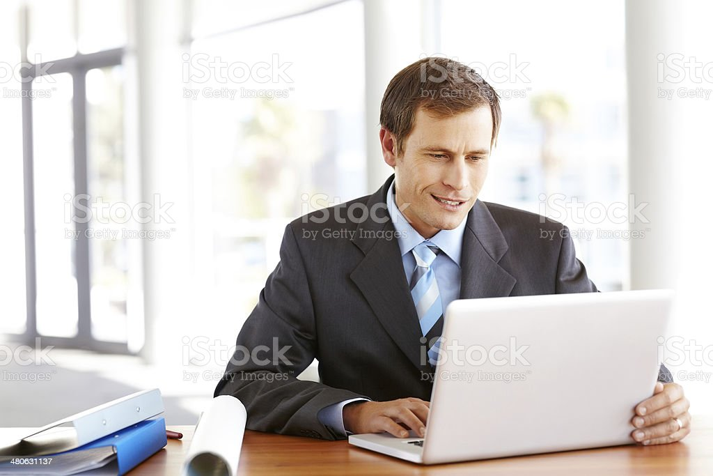 Architect Using Laptop In Office royalty-free stock photo