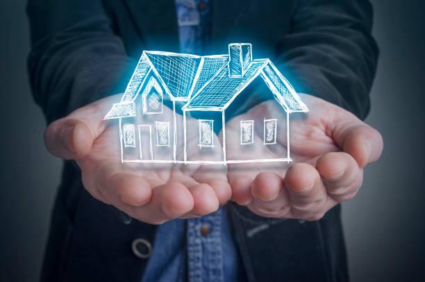 Architekten Sie mit ein virtuelles Modell eines Hauses – Foto