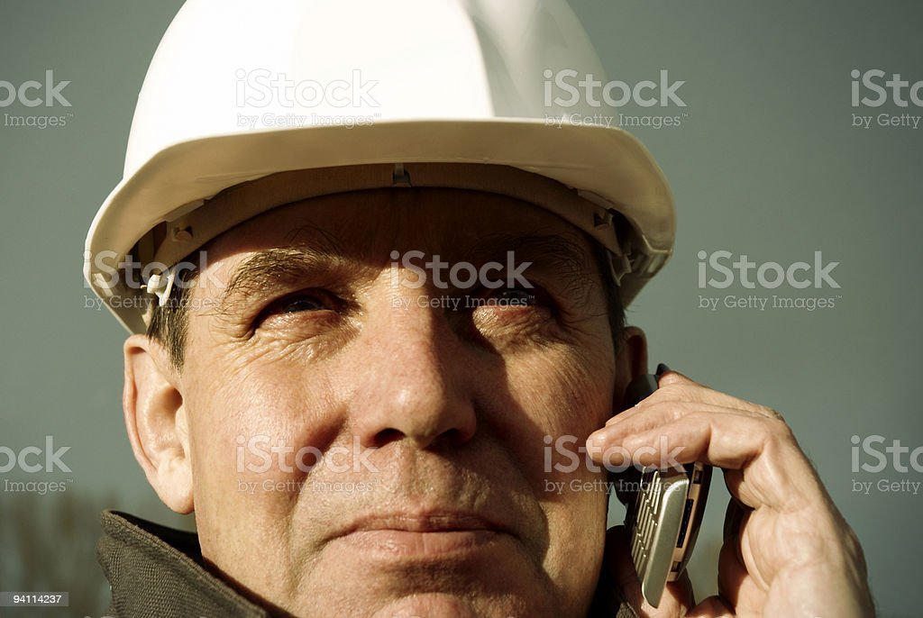 architect with cell-phone royalty-free stock photo