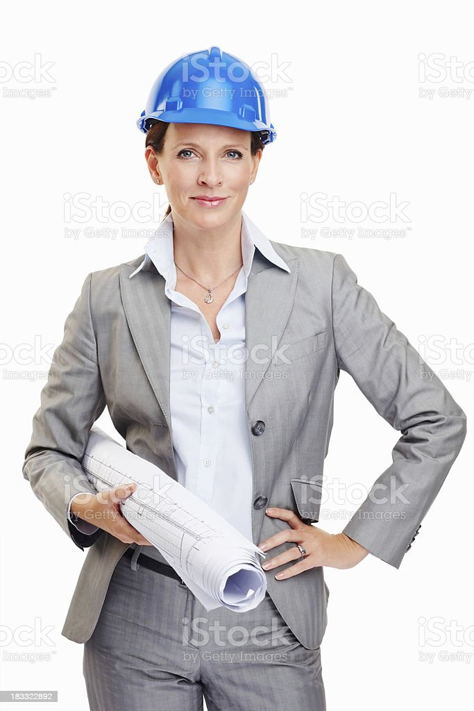 Architect woman royalty-free stock photo