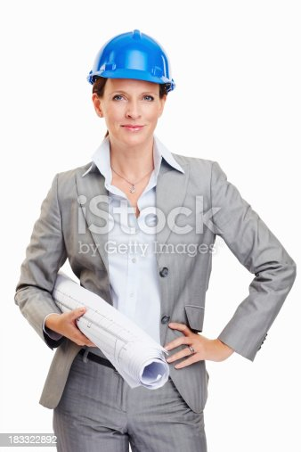 istock Architect woman 183322892