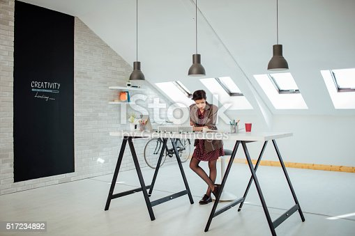 486809856 istock photo Architect Working In Her Office. 517234892