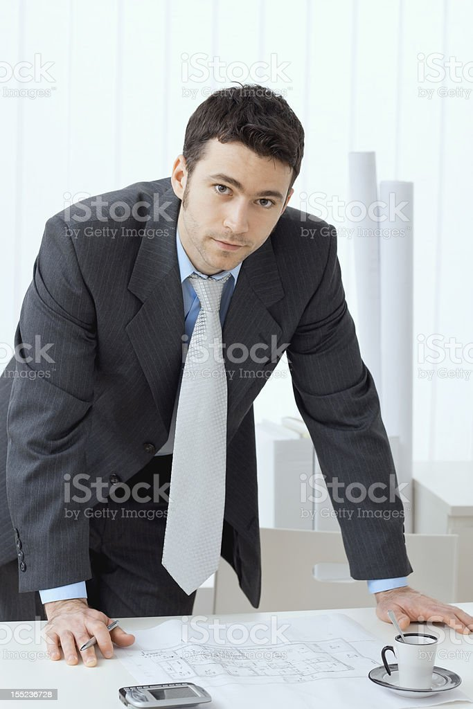 Architect working royalty-free stock photo